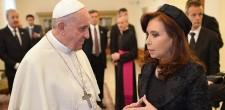 Papa y CFK marzo 2014