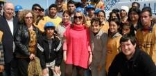 La Ministra Alicia Kirchner visitó las obras ejecutadas por las cooperativas de Reconquista adheridas a las CNCT