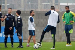 Defensa-San Lorenzo_amistoso_primer partido (Prensa SL)