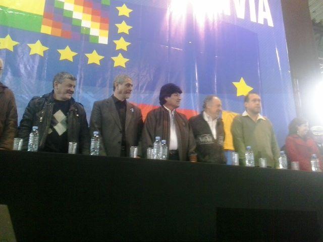 Evo Morales y Miño