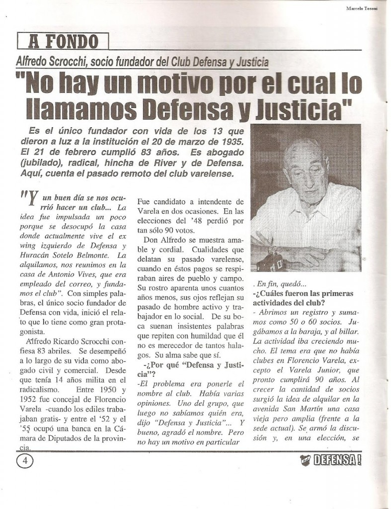 Scrocchi en Revista Defensa! Corazon