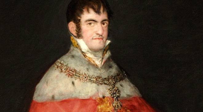 fernando vii retrato de Goya